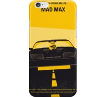 No051 My Mad Max minimal movie poster iPhone Case/Skin