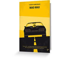 No051 My Mad Max minimal movie poster Greeting Card
