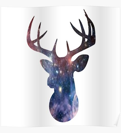 Galaxy Stag Poster