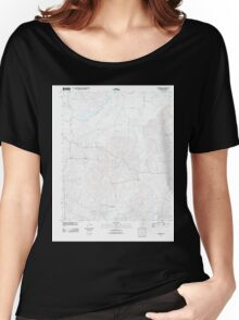 USGS TOPO Map Arkansas AR Laneburg 20110711 TM Women's Relaxed Fit T-Shirt