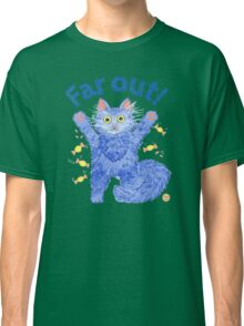 Blue Cat 'Far Out' Classic T-Shirt