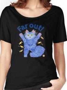 Blue Cat 'Far Out' Women's Relaxed Fit T-Shirt