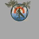 Life by the Beach - Surfing - Summer Sun and Palm Trees by Denis Marsili