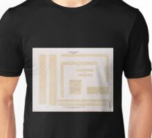 0113 Altes Reich Dynastie XII a h Inschriften von Benihassan Banî Hasan Site aus Grab 7 8 9 10 i Felsentafel von Tura Unisex T-Shirt