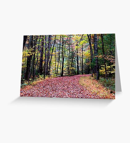 Strolling Into Autumn Greeting Card