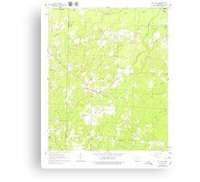 USGS TOPO Map Arkansas AR Mt Holly 259176 1962 24000 Canvas Print