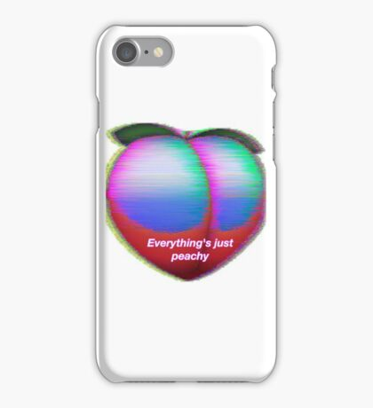 Everything's just peachy iPhone Case/Skin