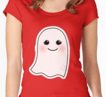 Halloween Ghost  Women's Fitted Scoop T-Shirt
