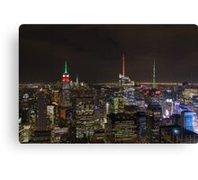 New York @ Night Canvas Print