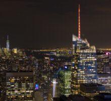 New York @ Night Sticker
