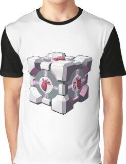 Companion cube has a heart Graphic T-Shirt