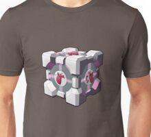 Companion cube has a heart Unisex T-Shirt