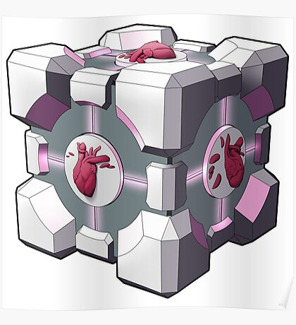 Companion cube has a heart Poster