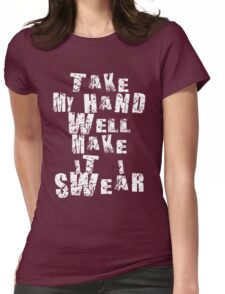 Quote Typographic  Womens Fitted T-Shirt