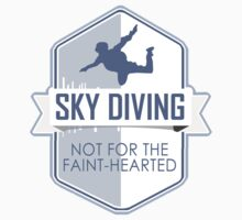 Sky Diving, Not For The Faint-hearted Kids Clothes