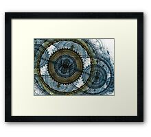 Blue machine Framed Print