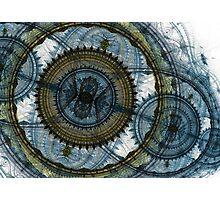 Blue machine Photographic Print