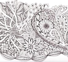 Flowing Flowers by Christianne Gerstner