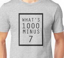 What is 1000 Minus Design Unisex T-Shirt