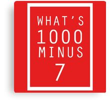 What is 1000 Minus Merchandise Canvas Print