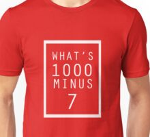 What is 1000 Minus Merchandise Unisex T-Shirt