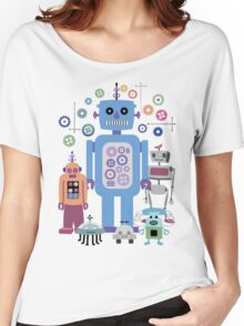 Retro Robots for Sci-fi Nerds and Geeks Women's Relaxed Fit T-Shirt