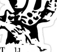 Mad Hatter,Twinkle Twinkle Little Bat, Alice in Wonderland Sticker