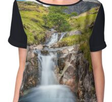 Cascading Waterfall Chiffon Top
