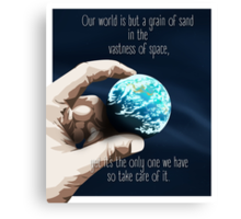 We Are But A Grain Of Sand In Space Canvas Print