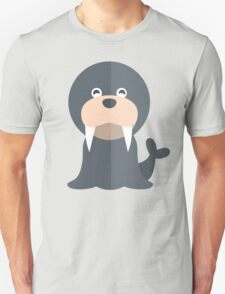 Walrus // North Pole, Arctic // Cute Vector Animal Unisex T-Shirt