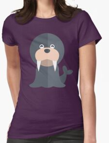 Walrus // North Pole, Arctic // Cute Vector Animal Womens Fitted T-Shirt