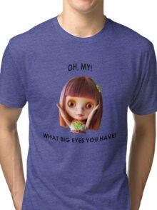 Blythe doll T-shirt:  What Big Eyes You Have! Tri-blend T-Shirt