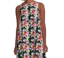 lilies galore2 A-Line Dress