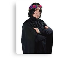 snape with flower crown Canvas Print