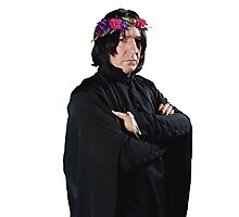 snape with flower crown Photographic Print