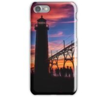 Sunset From the Pier - Grand Haven, Michigan iPhone Case/Skin