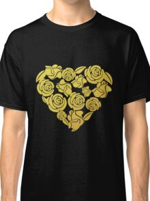 Gold Roses Heart Classic T-Shirt