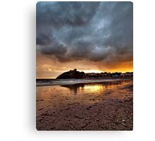 Criccieth Castle Sunset 2 Canvas Print