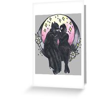 Fighting Crime and Love. Greeting Card
