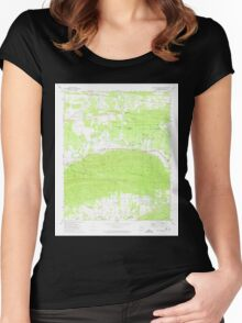 USGS TOPO Map Arkansas AR Danville Mountain 258294 1972 24000 Women's Fitted Scoop T-Shirt