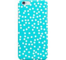 Cute Turquoise and White Polka Dots iPhone Case/Skin