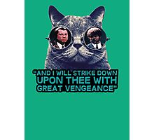 Galaxy cat glasses - pulp fiction quote jules Photographic Print