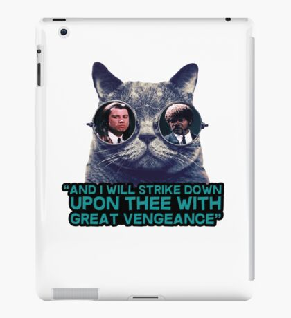 Galaxy cat glasses - pulp fiction quote jules iPad Case/Skin