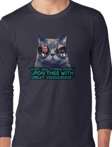 Galaxy cat glasses - pulp fiction quote jules Long Sleeve T-Shirt
