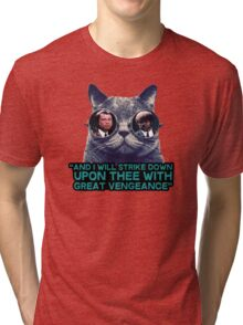 Galaxy cat glasses - pulp fiction quote jules Tri-blend T-Shirt