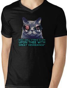 Galaxy cat glasses - pulp fiction quote jules Mens V-Neck T-Shirt