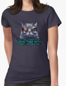 Galaxy cat glasses - pulp fiction quote jules Womens Fitted T-Shirt