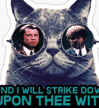 Galaxy cat glasses - pulp fiction quote jules Sticker