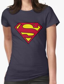 SUPERMAN Womens Fitted T-Shirt