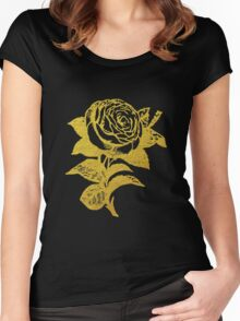 Gold Rose Women's Fitted Scoop T-Shirt